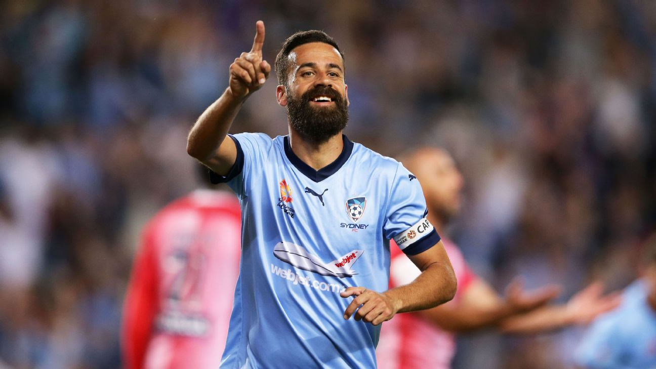 Alex Brosque celebrates his goal against Melbourne City.