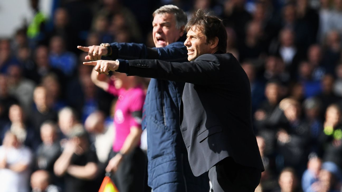Sam Allardyce and Antonio Conte