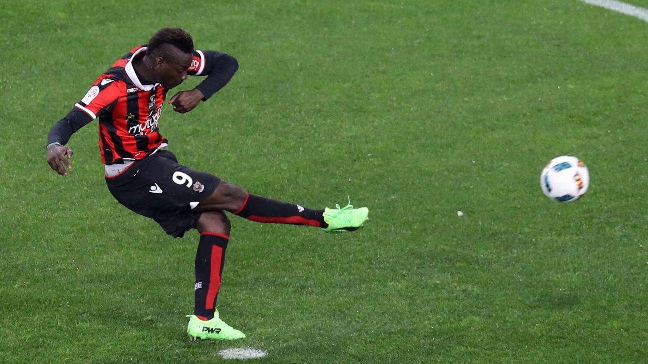 Mario Balotelli joined Nice from Liverpool in 2016.