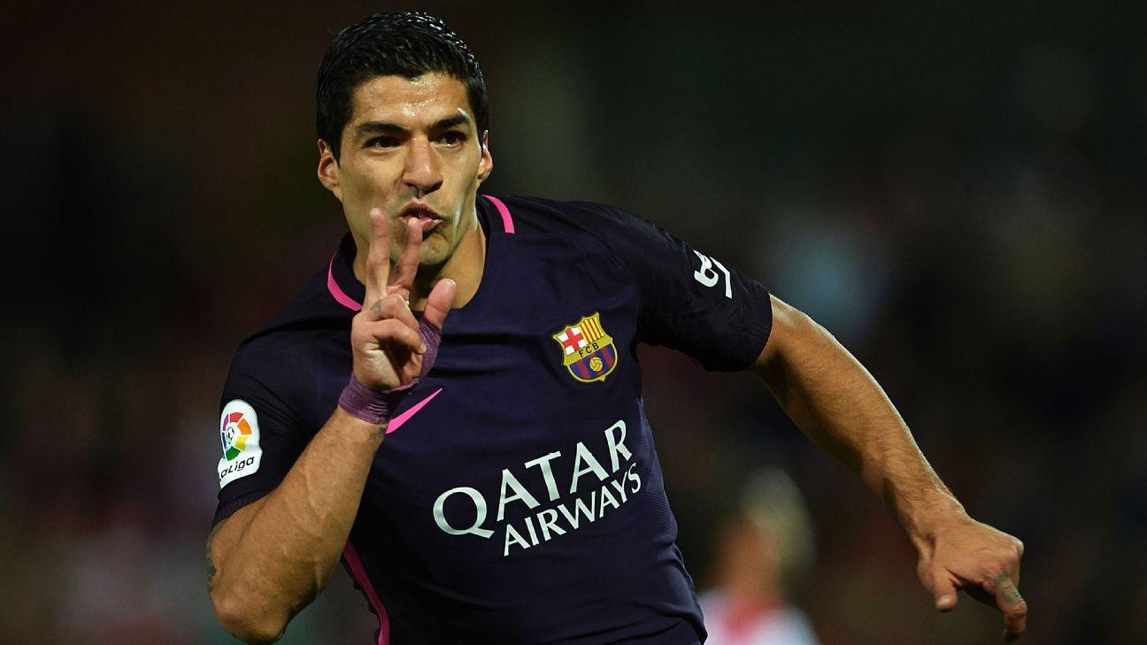 Barcelona striker Luis Suarez