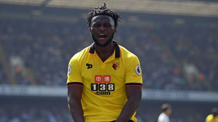 Isaac Success expresses his frustration earlier in his Watford career