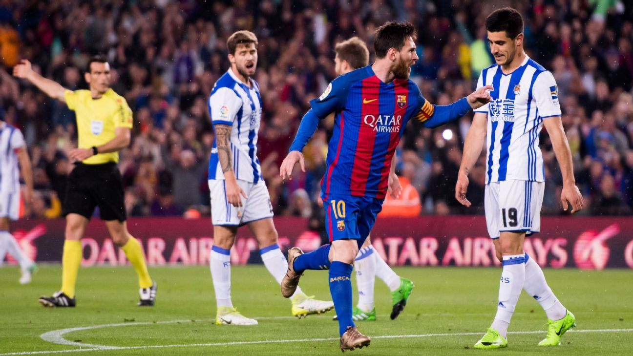 Lionel Messi's two goals helped Barcelona see off La Real.
