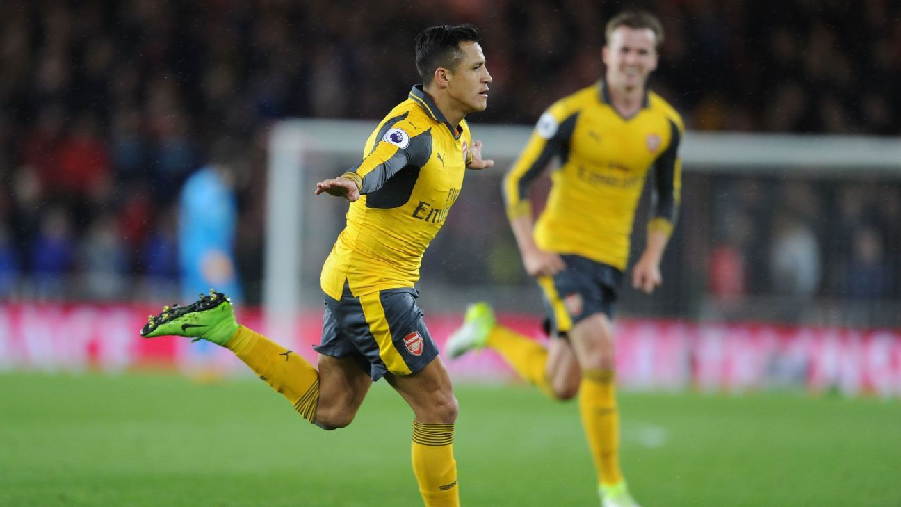 Alexis Sanchez scored the opener for Arsenal.