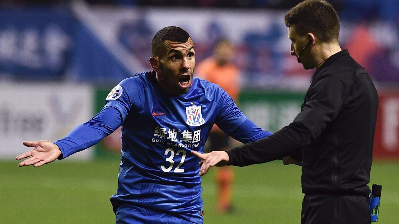 Carlos Tevez upset at Shanghai Shenhua