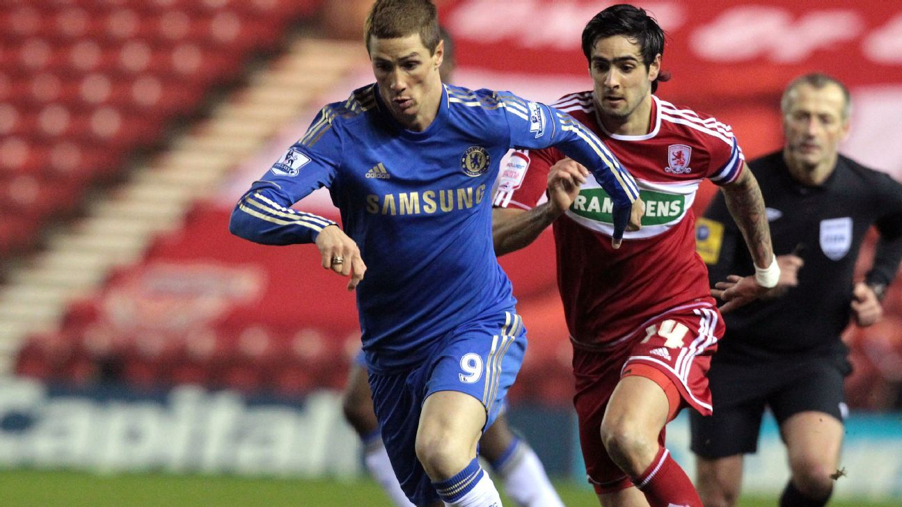 Rhys Williams and Fernando Torres in 2013 FA Cup