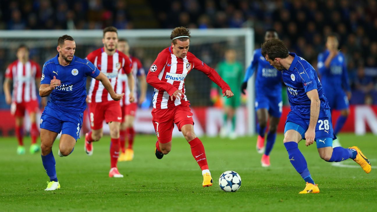 Leicester fight back but Griezmann a class above as Atletico advance in UCL