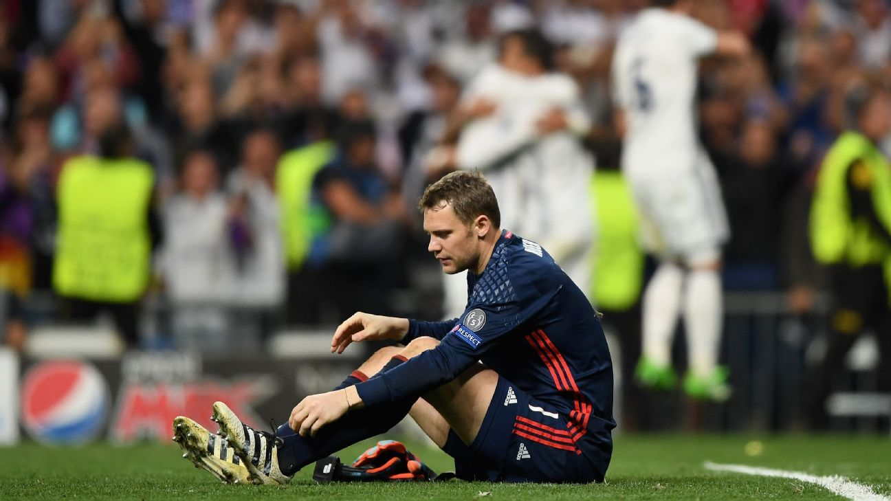 Neuer on ground vs Real Madrid 170418