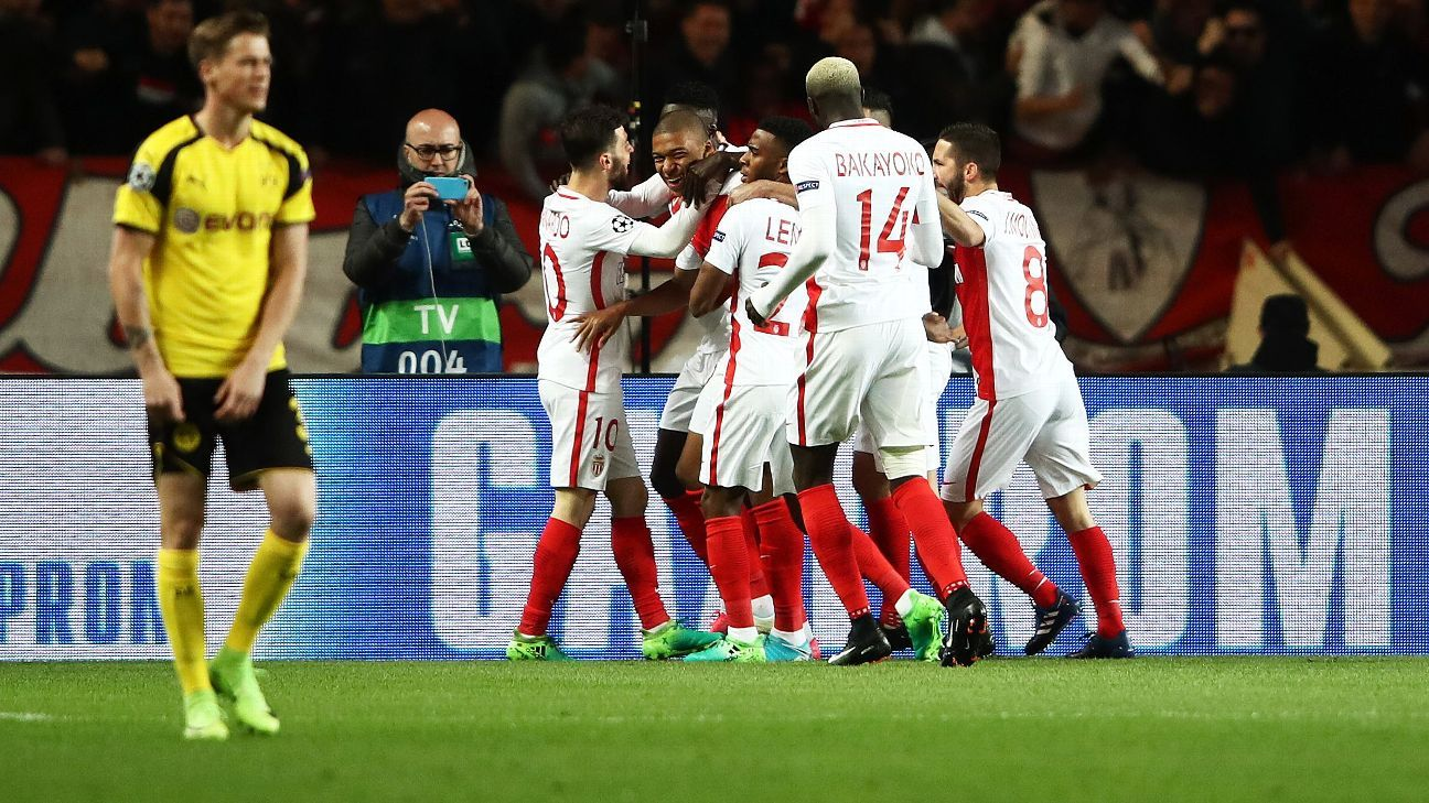 Monaco ended Borussia Dortmund's Champions League dream on Wednesday.