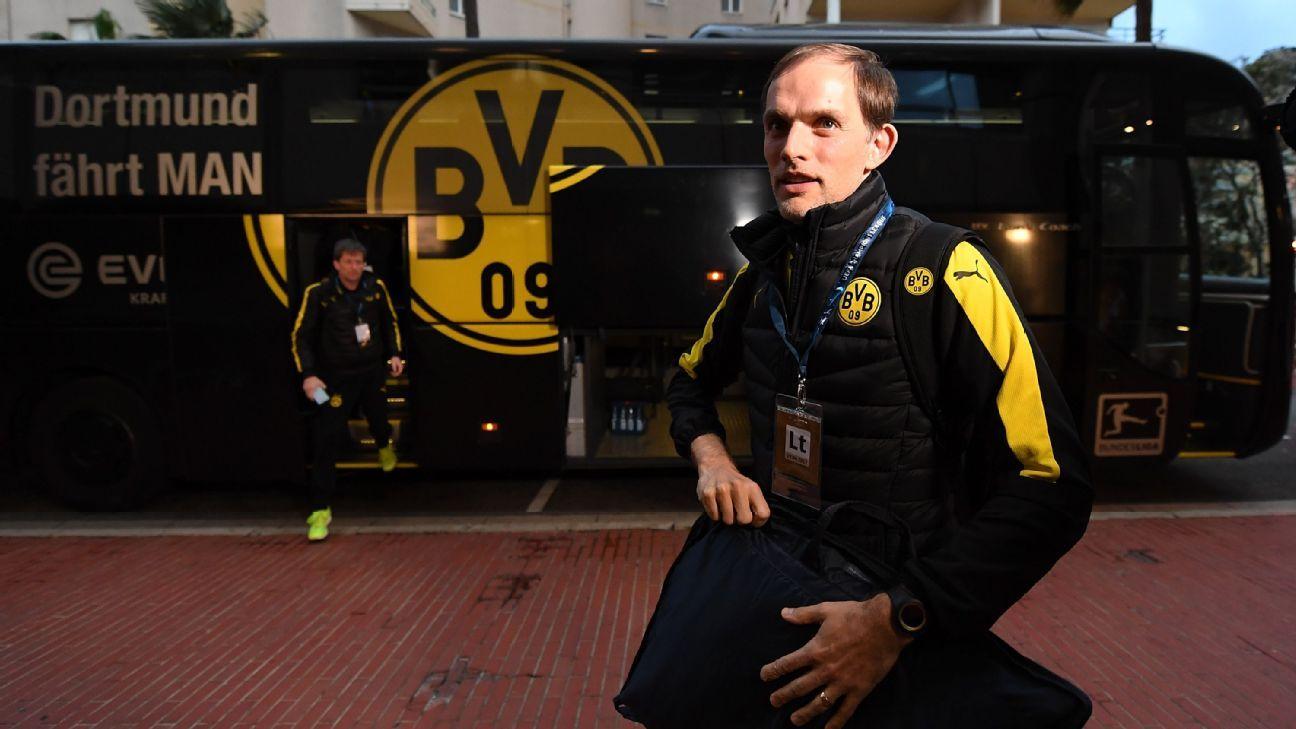 Tuchel team bus pre Dortmund 170419