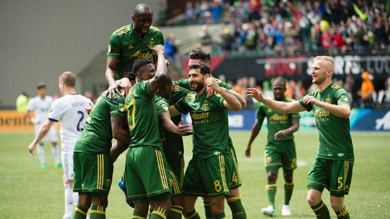 Portland Timbers celebrate