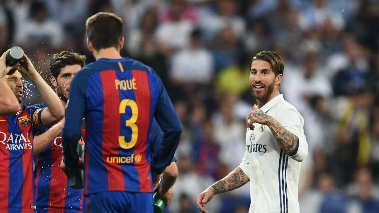 Real Madrid's Sergio Ramos deserved Clasico red card - Gerard Pique