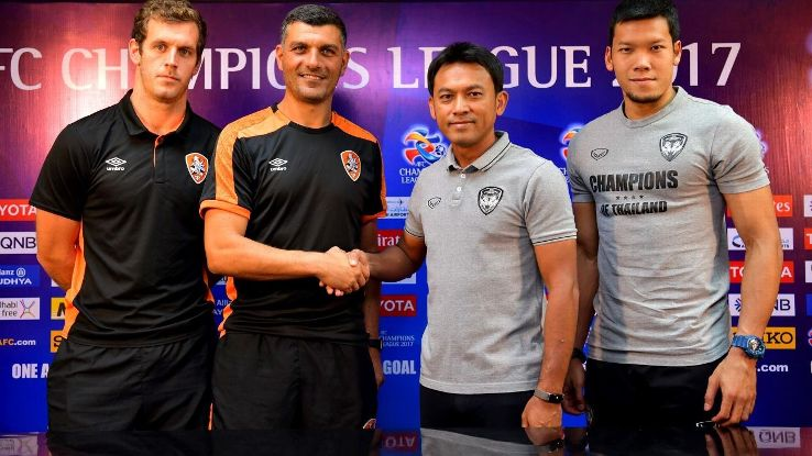 Muang Thong and Brisbane ACL press conference