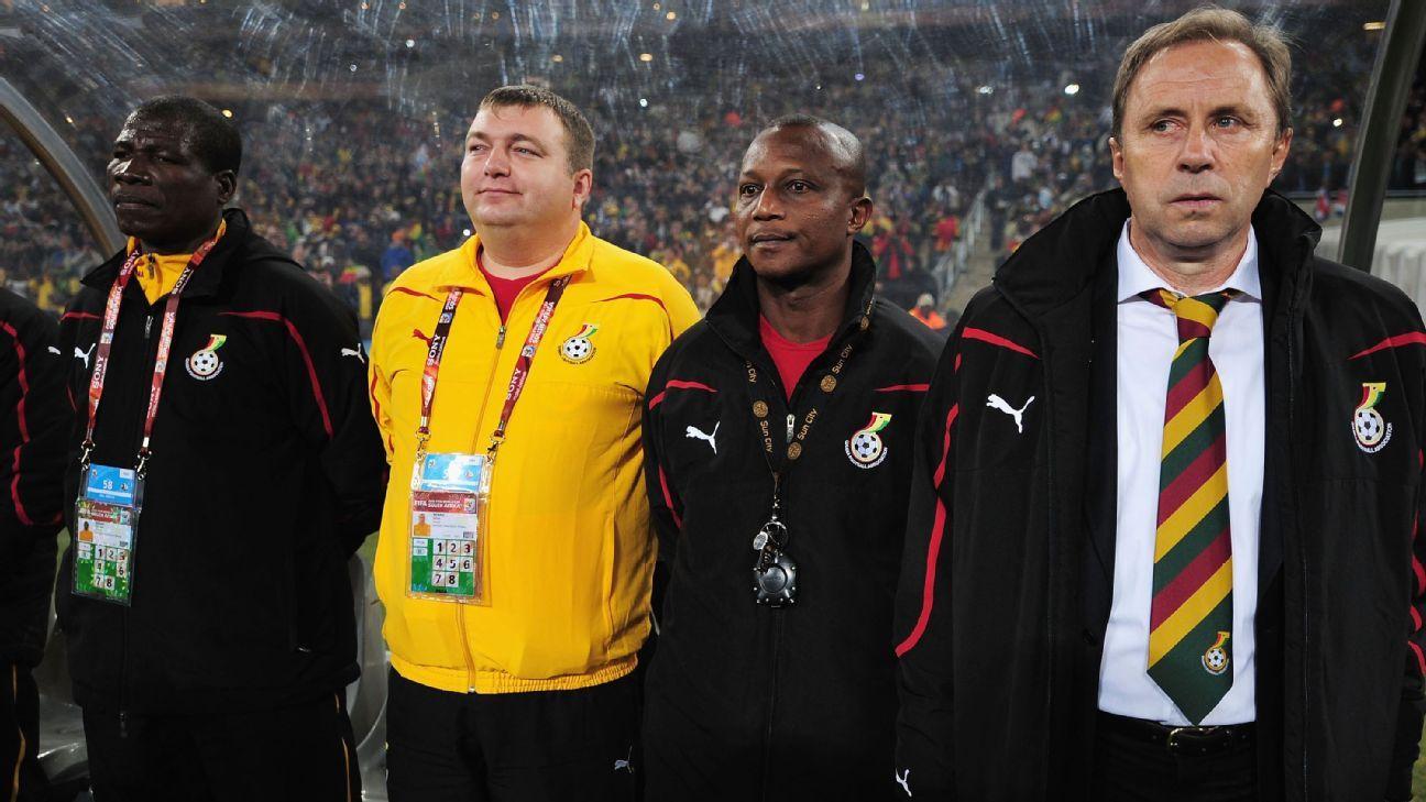 New Ghana coach Milovan Rajevac at 2010 World Cup