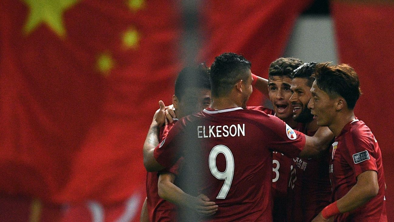 Shanghai SIPG celebrate ACL goal v FC Seoul