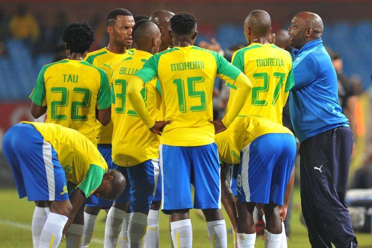 Mamelodi Sundowns coach Pitso Mosimane and players.