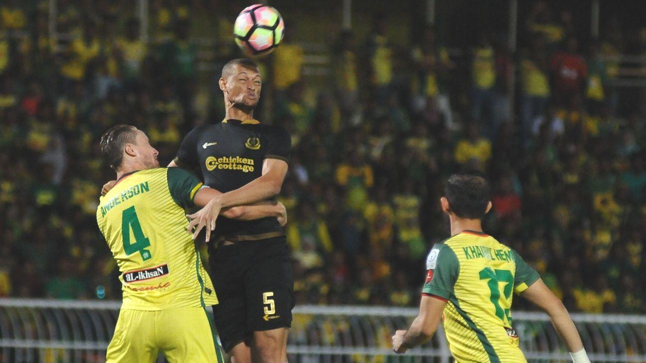 Zach Anderson for Kedah v Teregganu FA Cup semifinal