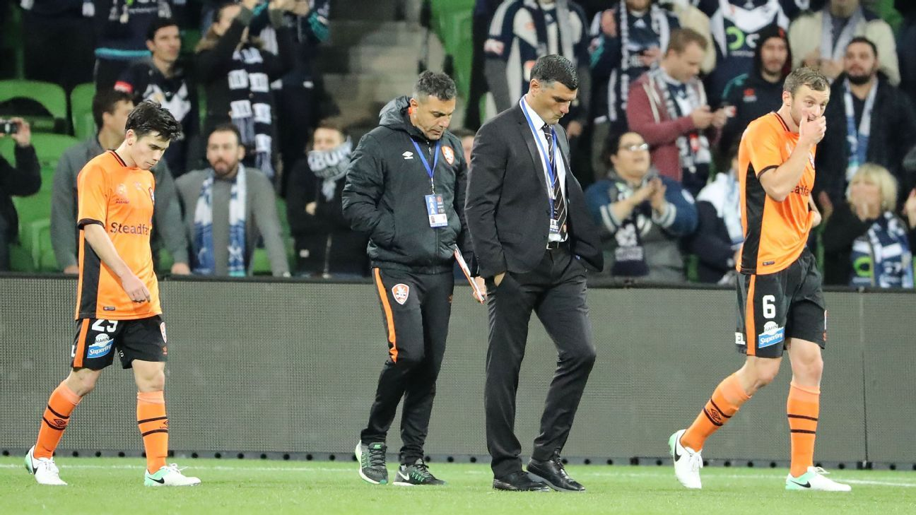 Dejected Brisbane Roar