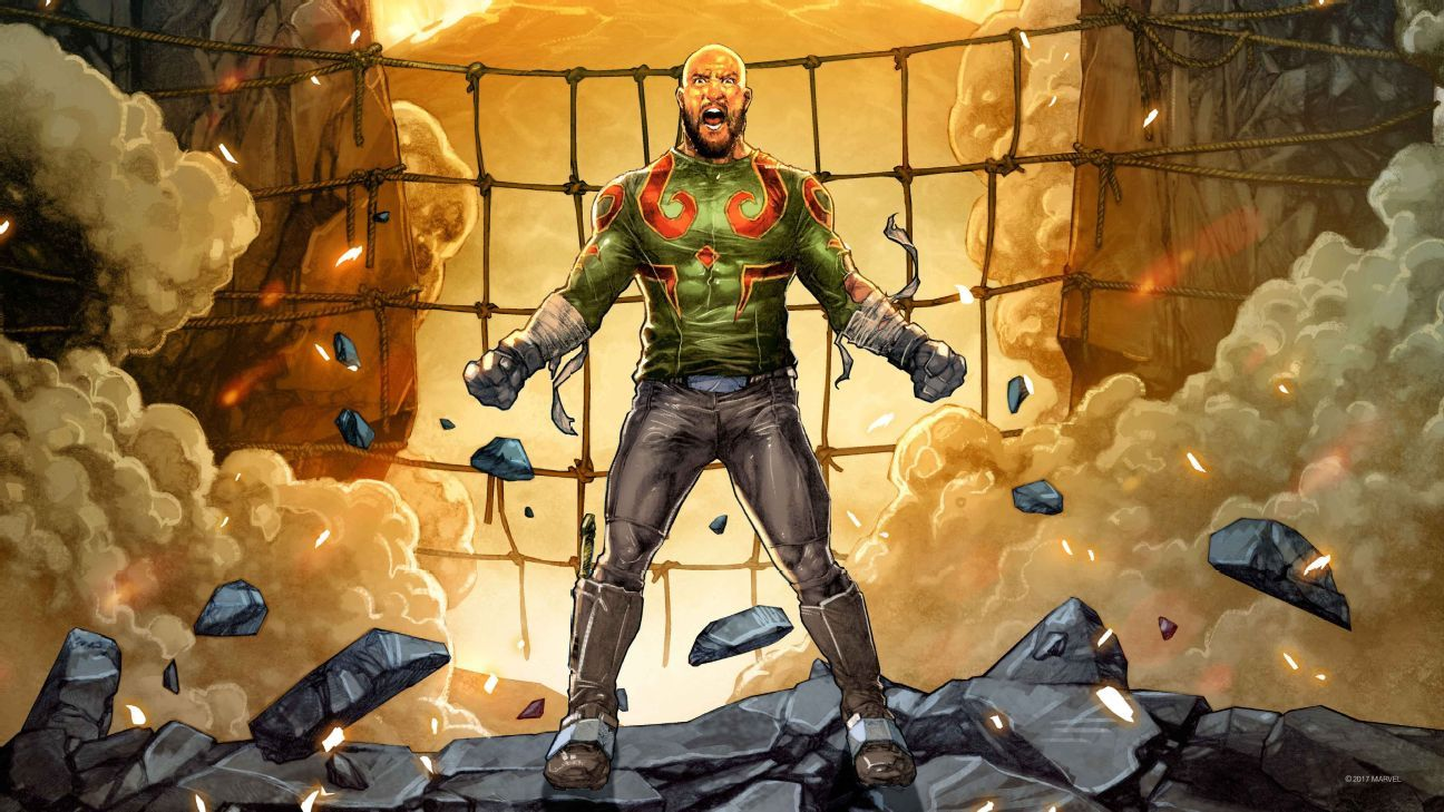 Tim Howard as Drax the Destroyer (Illustrations by Jay Anacleto & Skan, color by Romulo Fajard)
