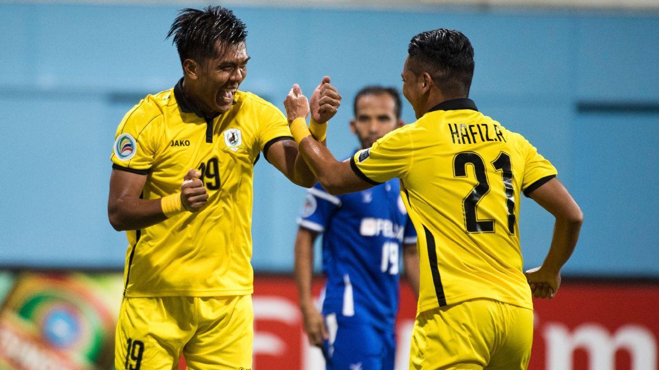 Tampines striker Khairul Amri celebrates AFC Cup goal