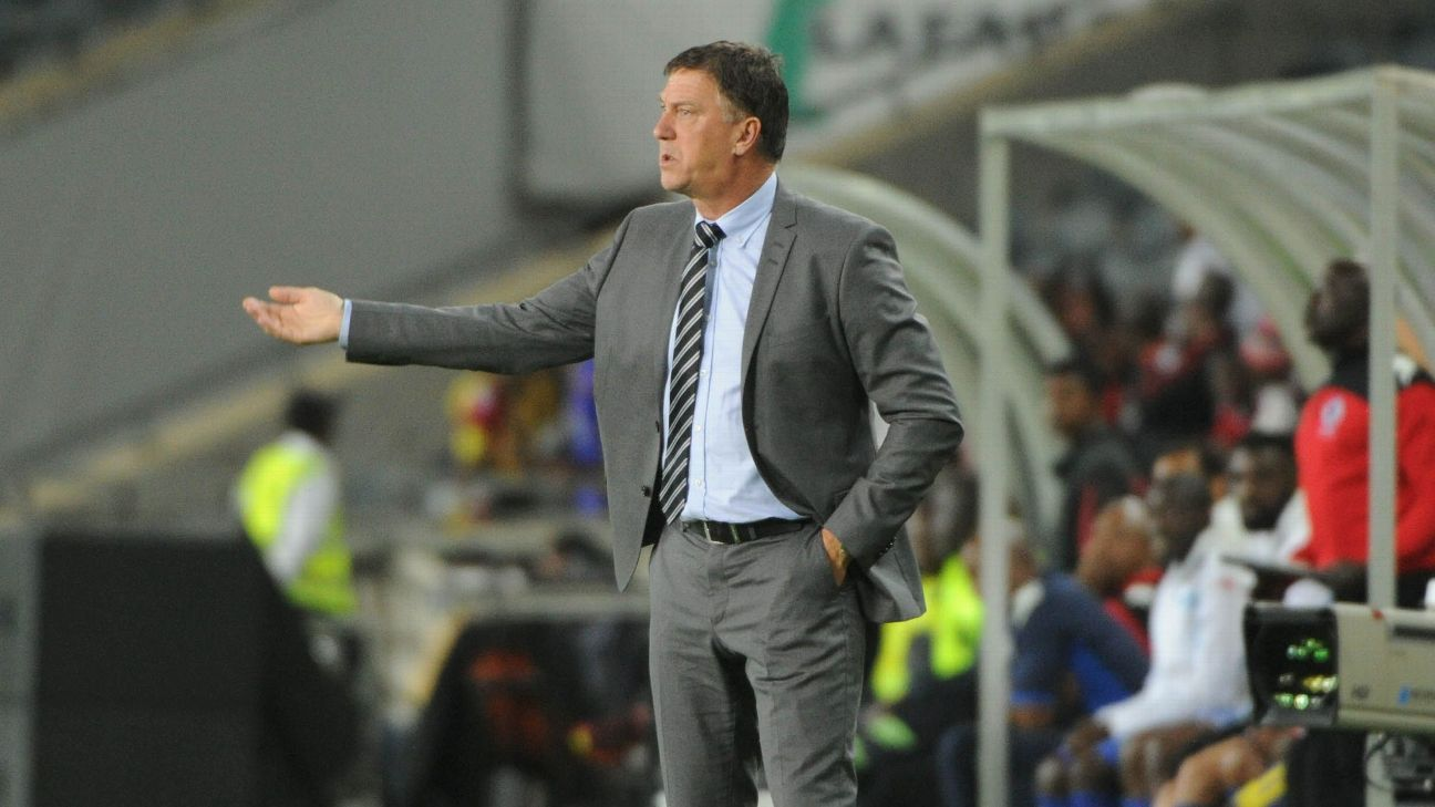 Kjell Jonevret coach of Orlando Pirates during the Absa Premiership match Orlando Pirates and Supersport United at Orlando Stadium.