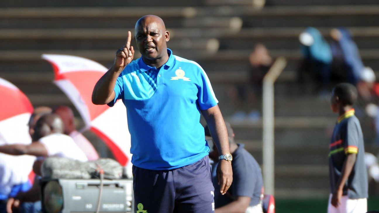 Pitso Mosimane coach of Mamelodi Sundowns  during the Absa Premiership match between Free State Stars and Mamelodi Sundowns.