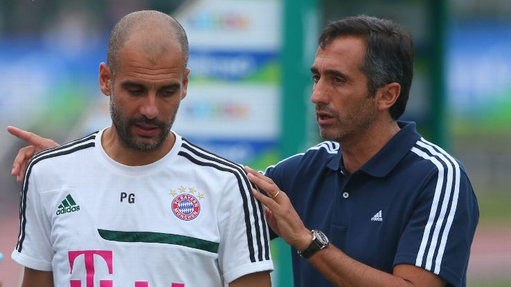 Pep Guardiola and Manel Estiarte