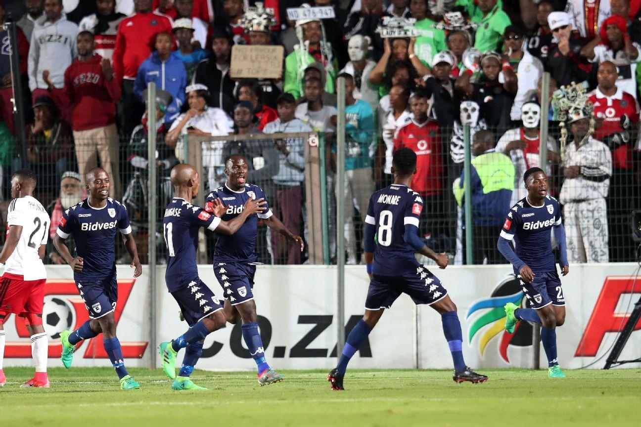 Cuthbert Malajila celebrates the winner against Pirates