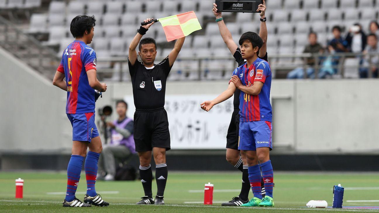 Takefusa Kubo makes debut for FC Tokyo
