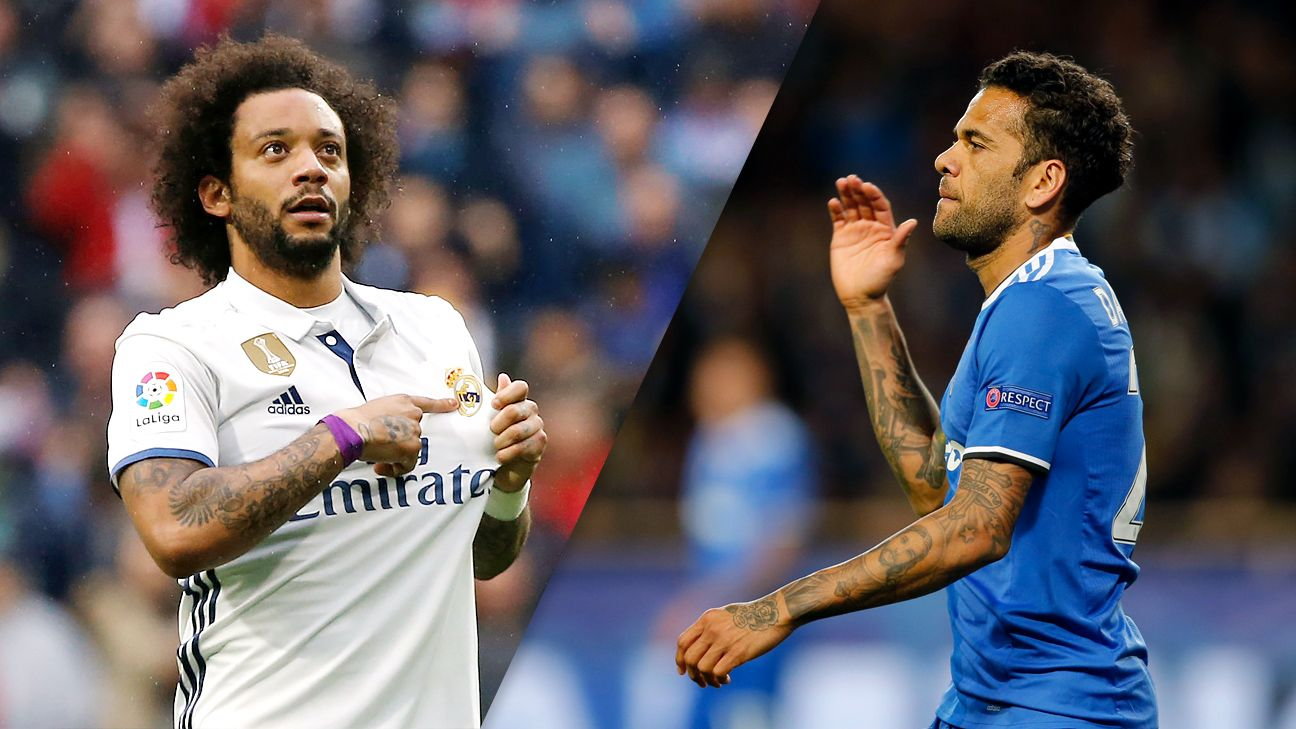 Marcelo and Dani Alves continue to redefine the fullback role for