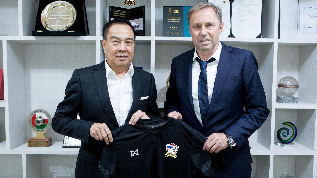 New Thailand coach Milovan Rajevac unveiled