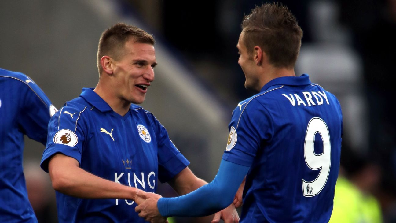 Marc Albrighton rounded off the scoring for Leicester.