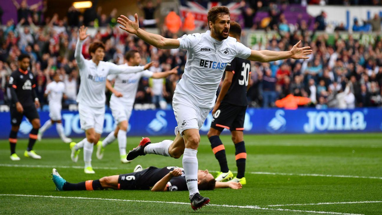 Fernando Llorente scored Swansea's winner.