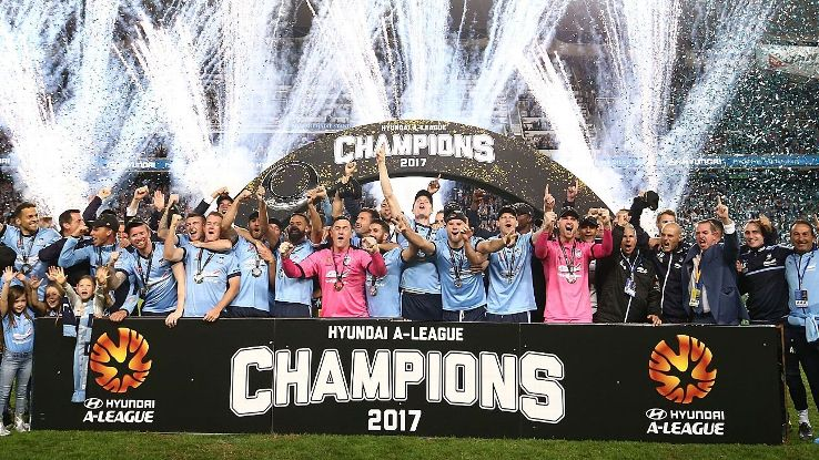 Sydney FC lifts A-League trophy