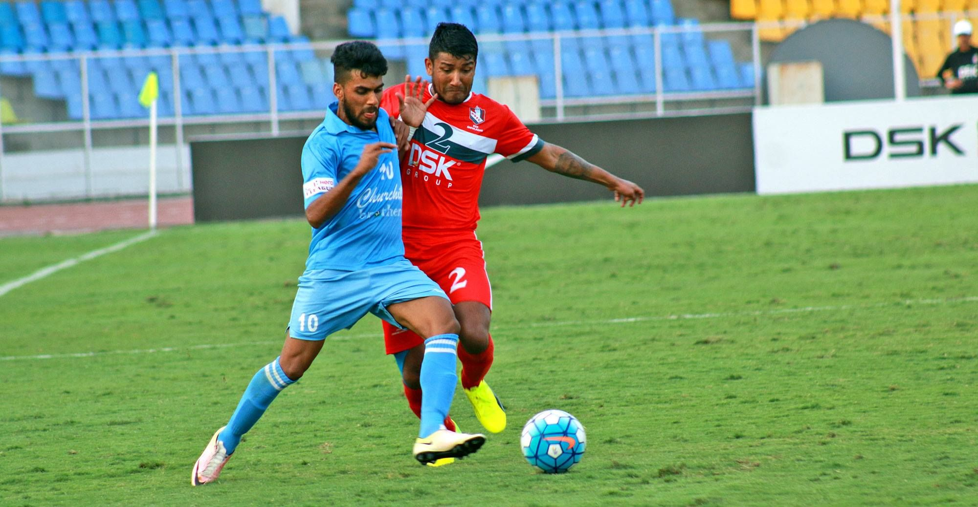 Brandon Fernandes (L) was Churchill's best player in the 2016-17 I-League season, with 3 goals and 7 assists to his name.
