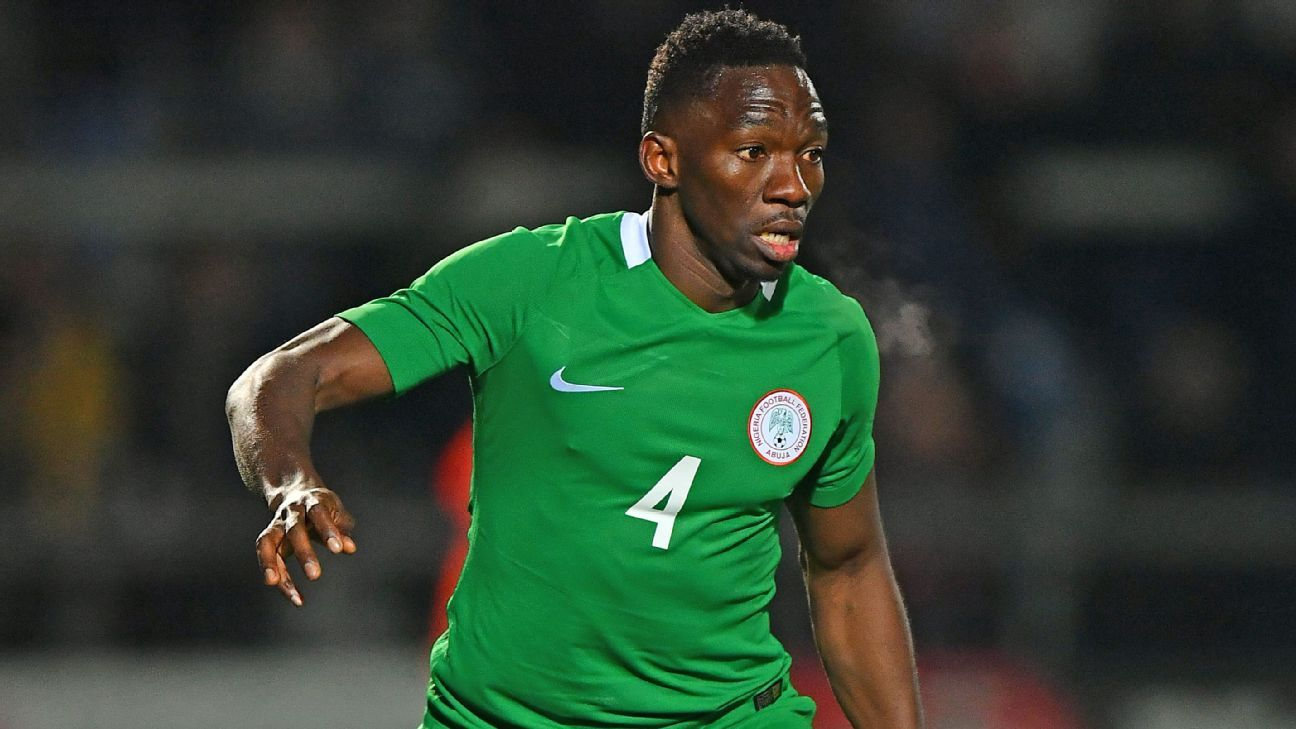 Nigeria defender Kenneth Omeruo.