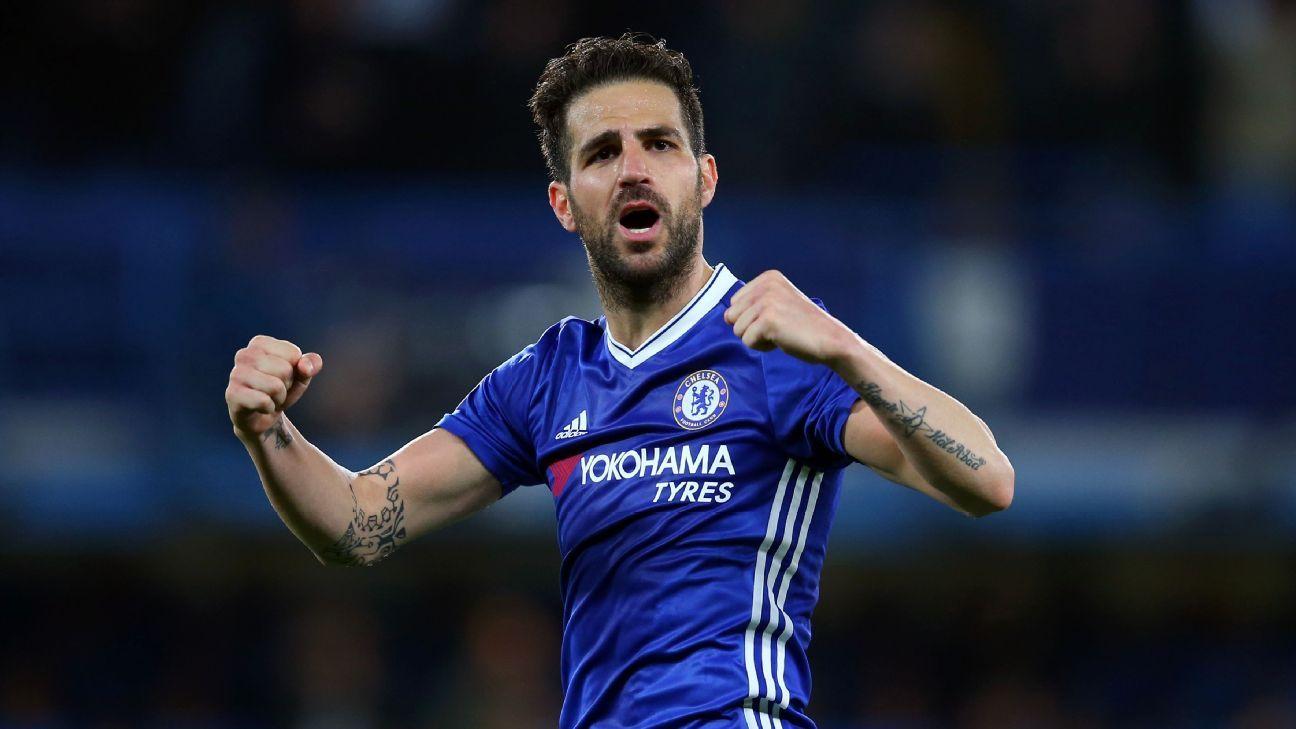 Chelsea Cesc Fabregas becomes first Premier League player
