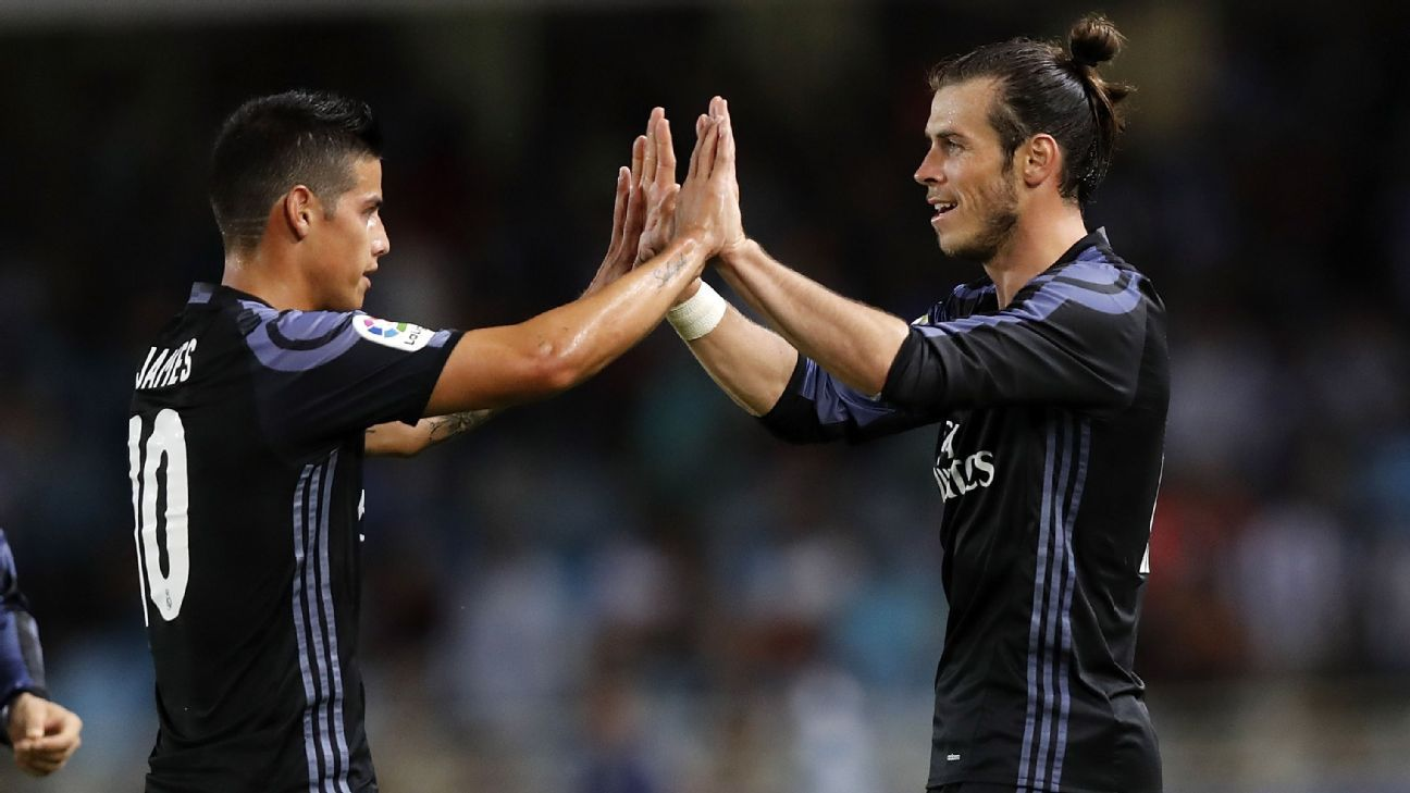 James Rodriguez and Gareth Bale