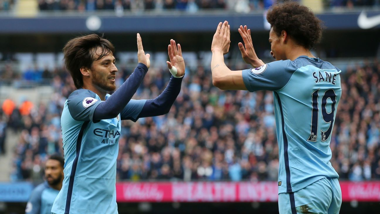 David Silva opened the scoring for Manchester City on Saturday.
