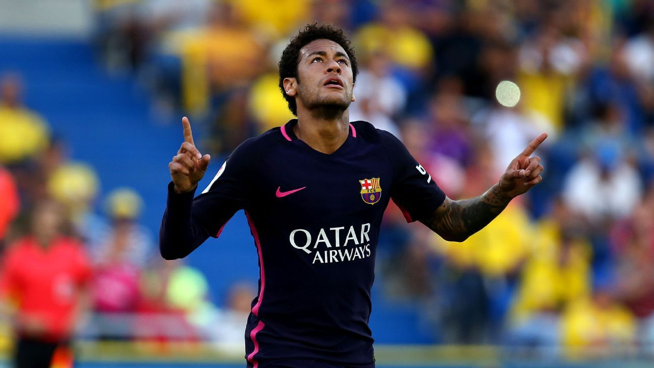 Neymar was in inspired form for Barcelona.