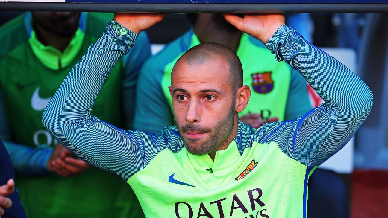 Javier Mascherano is currently sidelined through injury.