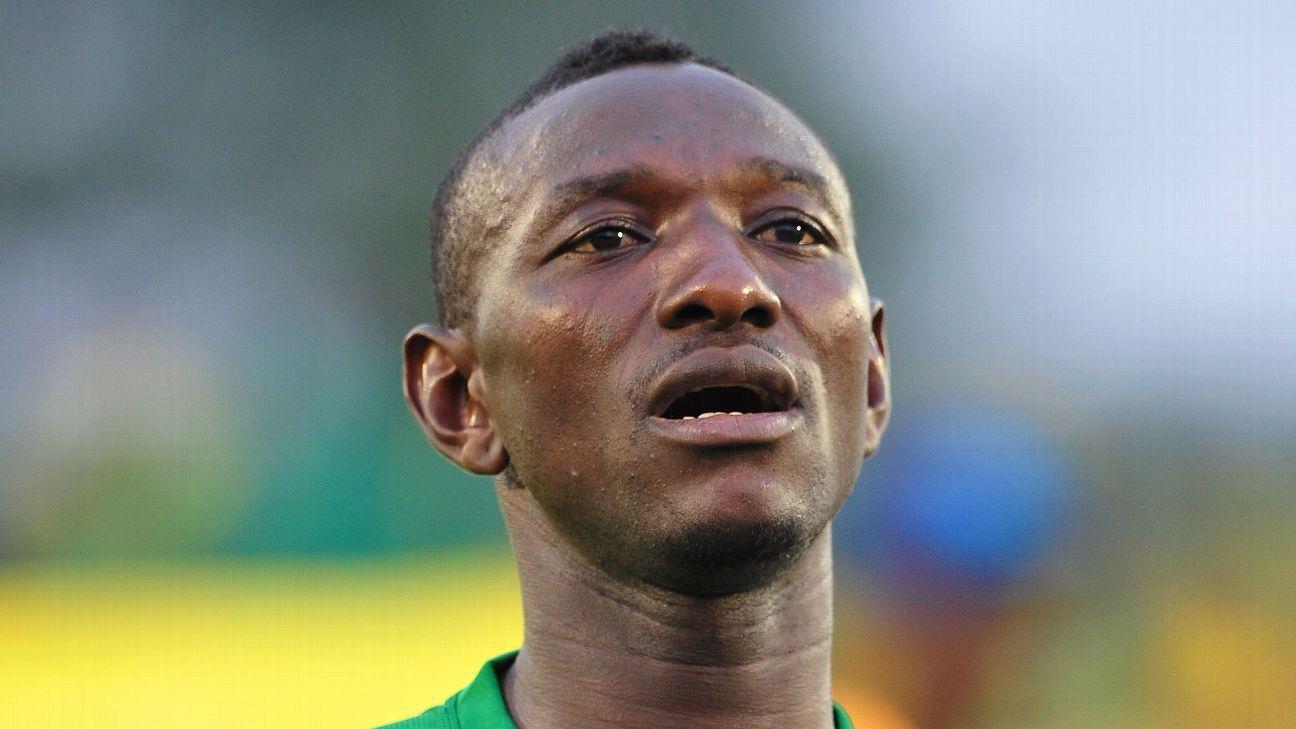 Paul Onobi of Nigeria during the 2016 CHAN Rwanda game between Nigeria and Niger at Stade de Kigali Stadium, Kigali.