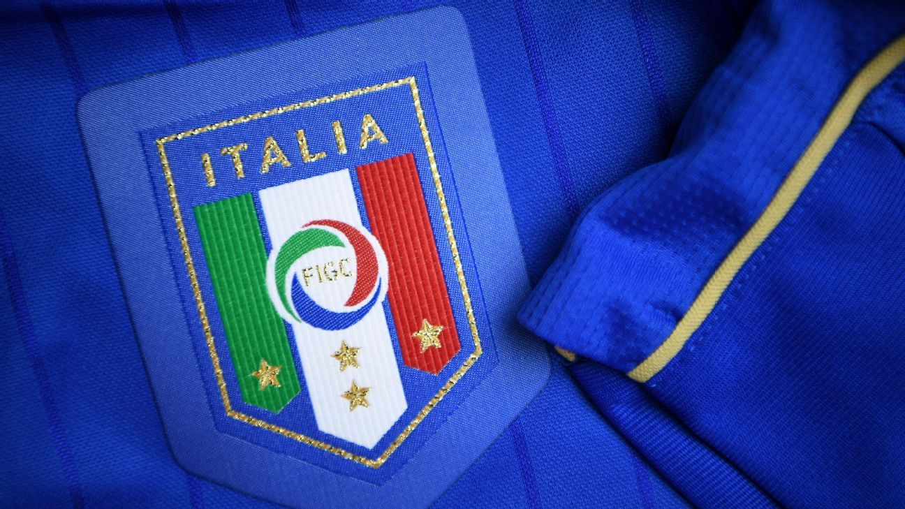 The Italian national football team shirt for the UEFA Euro 2016 European football championships.