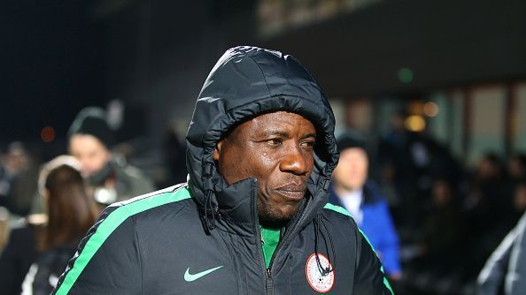 Salisu Yusuf coach of Nigeria during the International Friendly match between Nigeria and Senegal at The Hive.