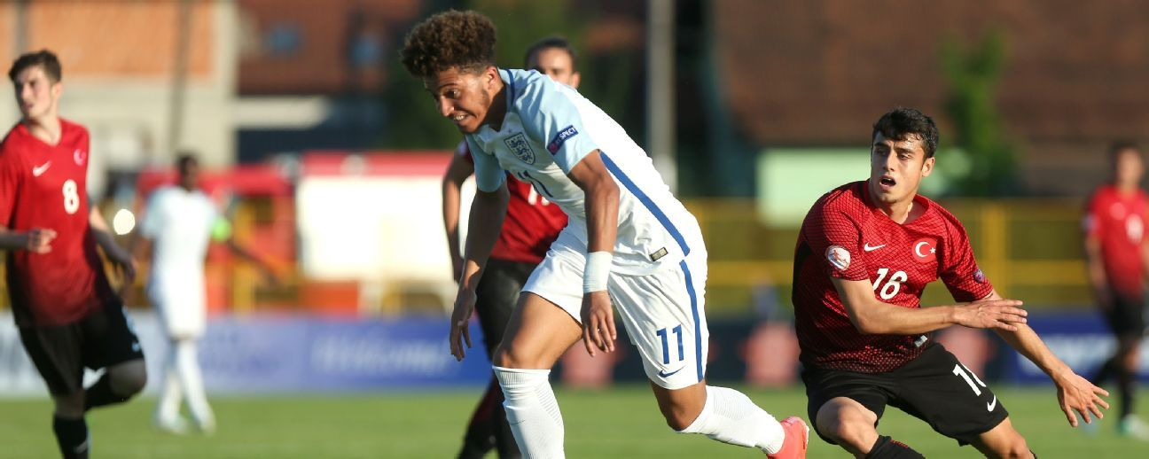 England U-17 striker Jadon Sancho.