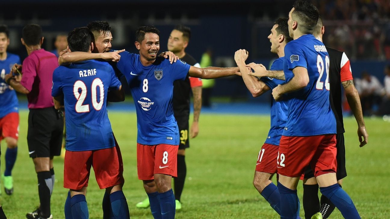 Safiq Rahim celebrates JDT goal in AFC semi