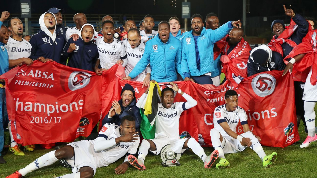 Bidvest Wits win the 2016/17 Absa Premiership title on 17 May 2017