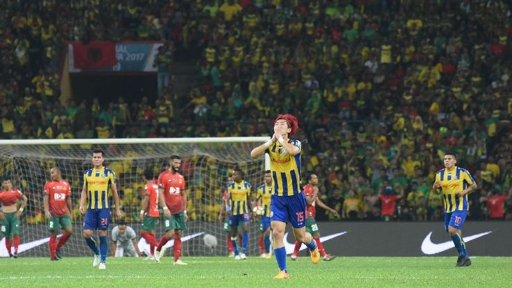 Pahang DF Heo Jae-Won scores in Malaysia FA Cup final