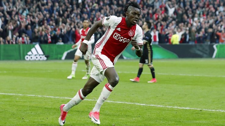Bertrand Traore has spent the season on loan at Ajax from Chelsea.