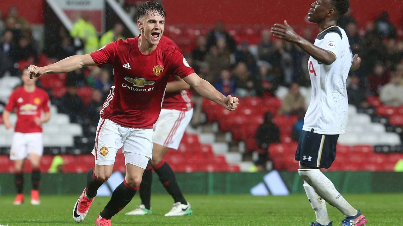 Josh Harrop was handed his Premier League debut for Manchester United against Crystal Palace.