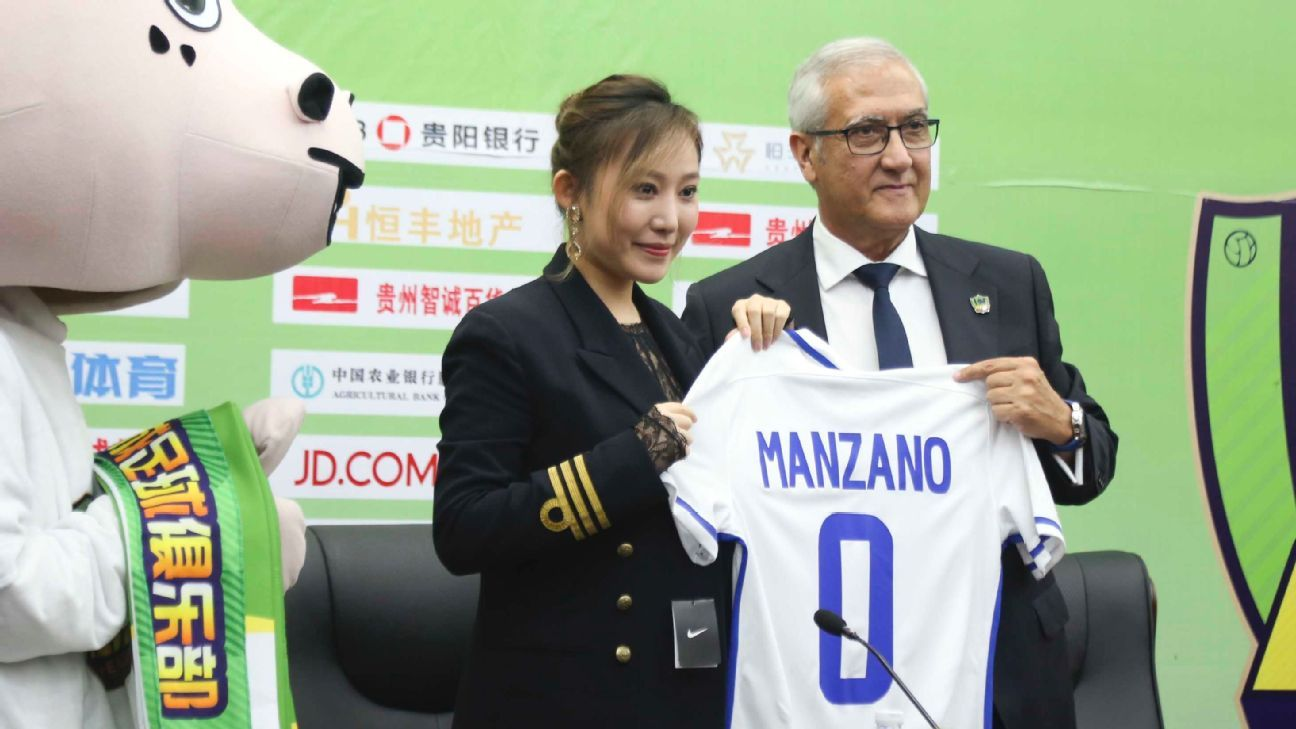 Gregorio Manzano has helped turn Guizhou Zhicheng's form around since his appointment in May 2017.
